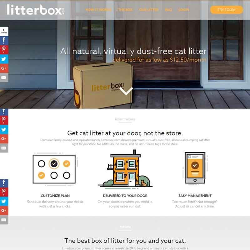 Top 10 CrateJoy Website Design-litterbox