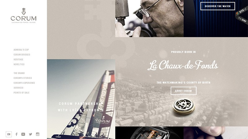 Web Design Trends 2018-Irregular Grid Use
