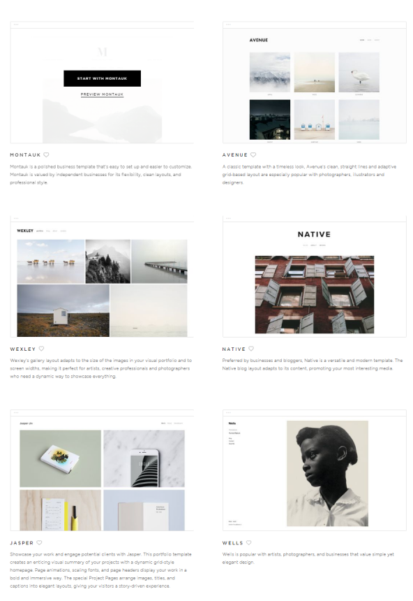 squarespace examples