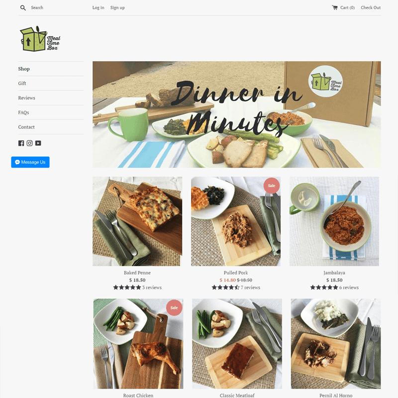 Top 10 CrateJoy Website Design-meal time box