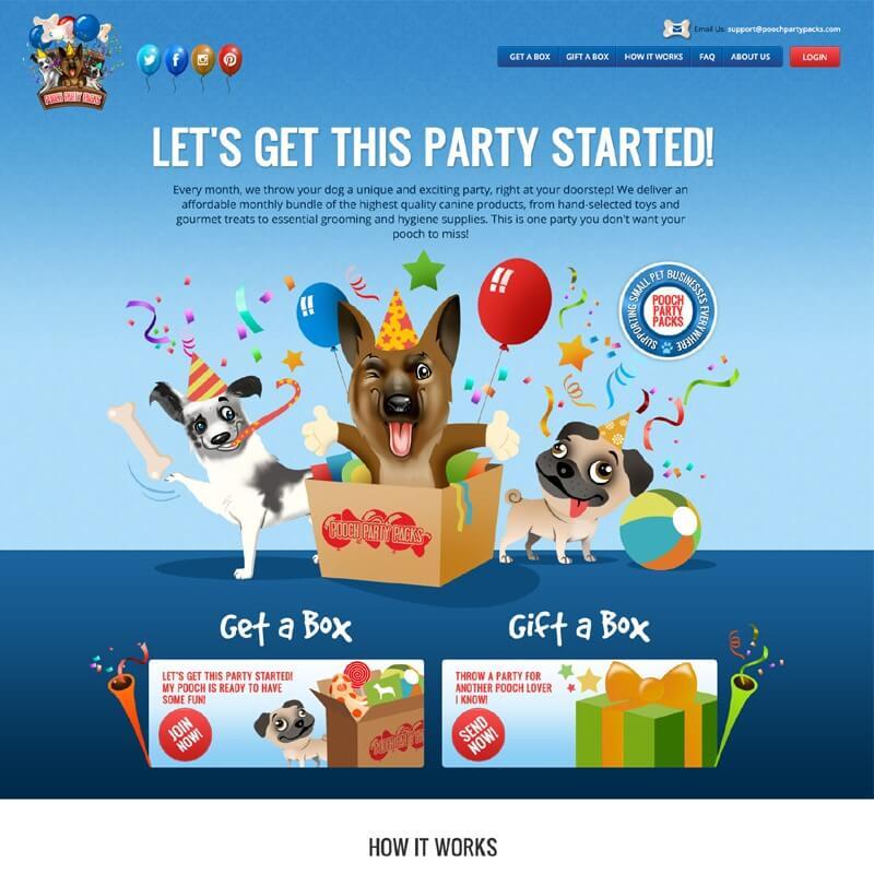 Top 10 CrateJoy Website Design-pooch party packs