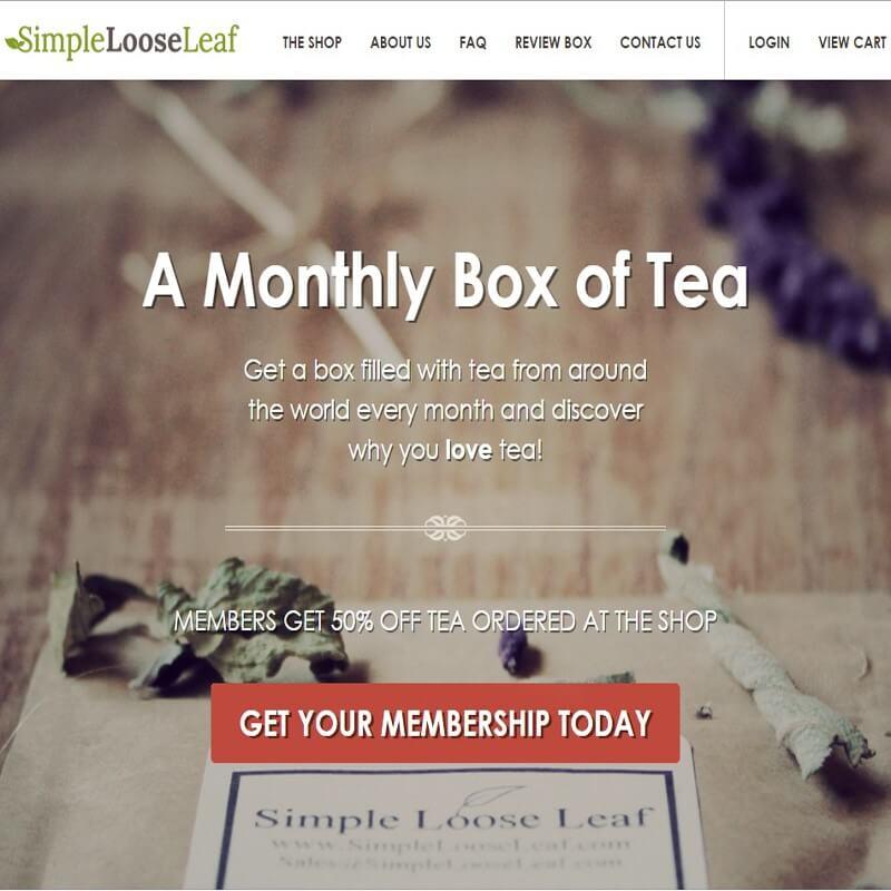 Top 10 CrateJoy Website Design-simple loose leaf